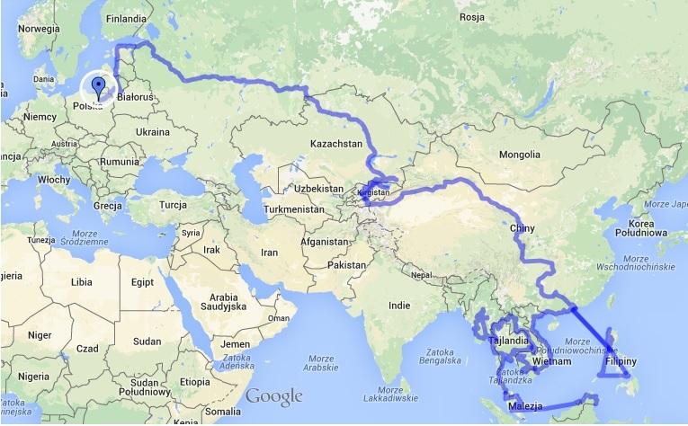 Na Nowej Drodze Życia - trasa