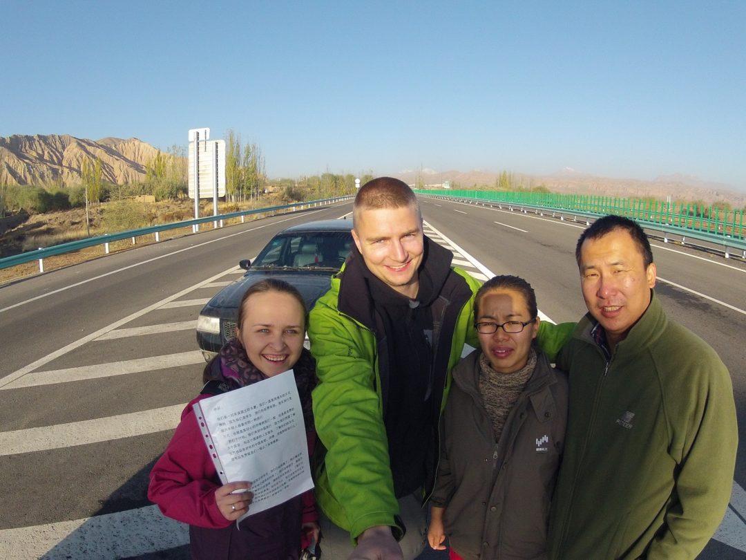 Chińki autostop