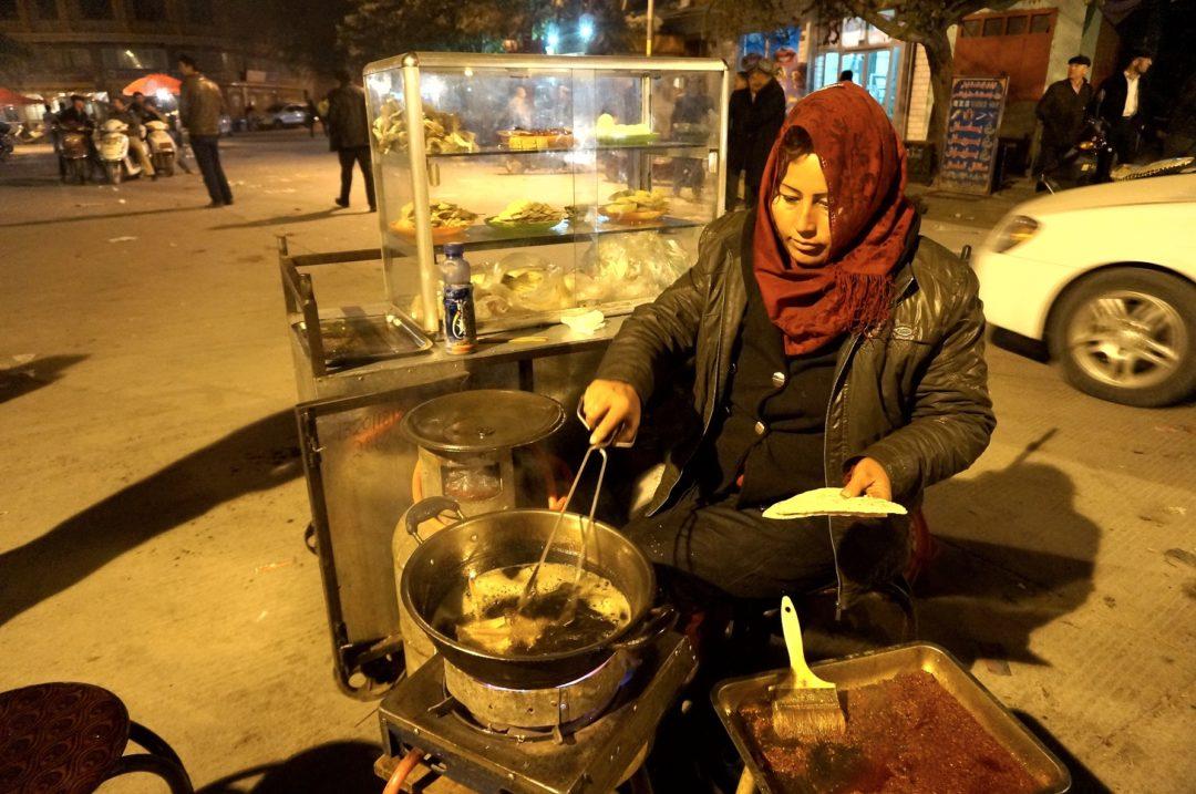 Pyszne jedzonko w Kaszgarze