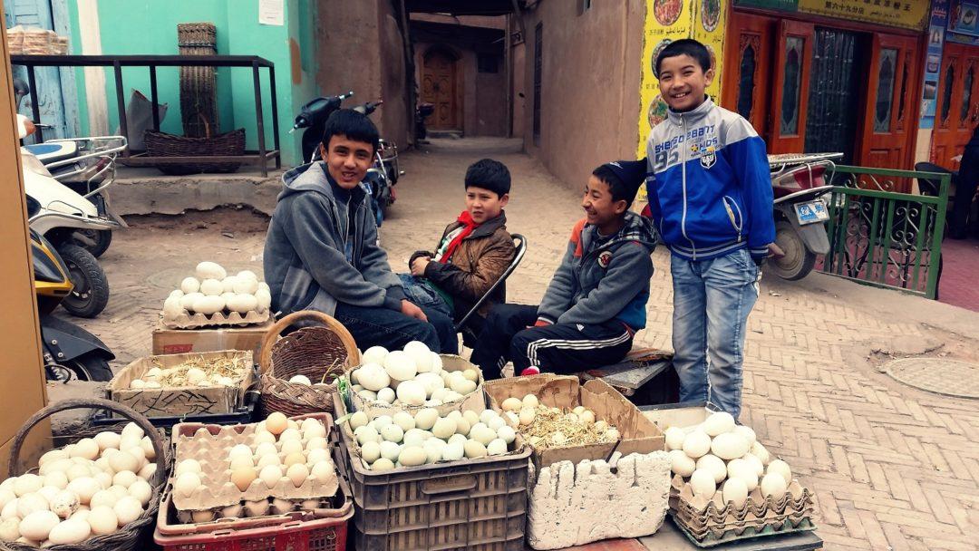Stragan z jajkami- Chiny 2014