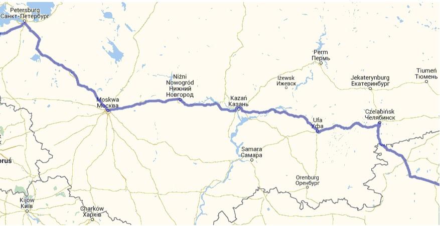 Autostop w Rosji - Na Nowej Drodze Życia