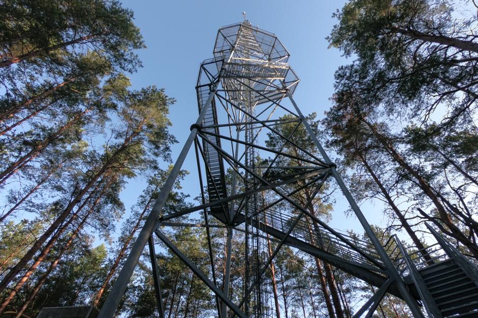 Litwa co zobaczyć - Wieża obserwacyjna Puvociai
