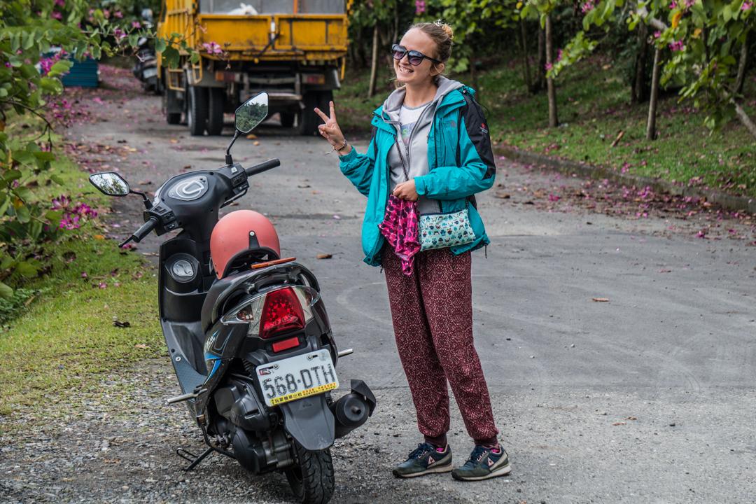 Tajwan - podróżowanie skuterem na Tajwanie