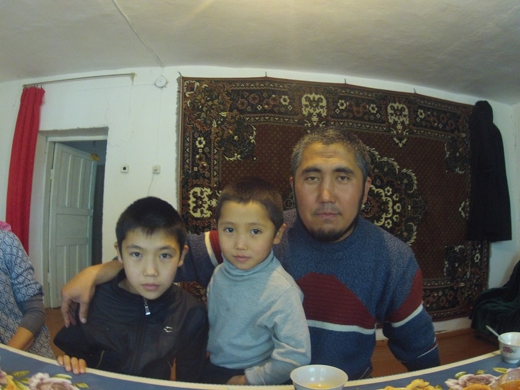 Rodzinka w południowym Kazachstanie