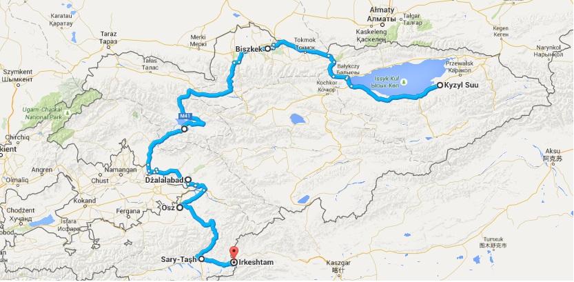 Autotop w Kirgistanie - Na Nowej Drodze Życia