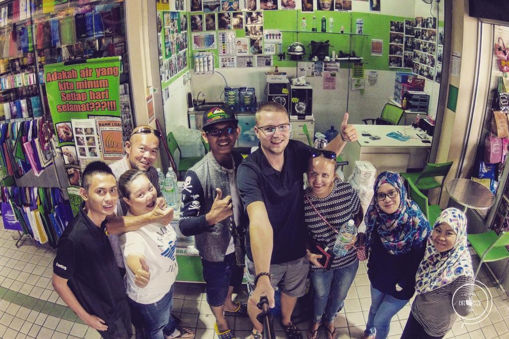 Autostop na Borneo