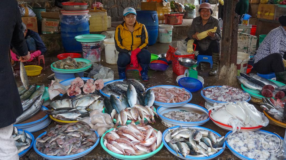 Da Lat w Wietnamie - lokalny market